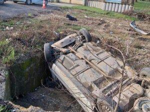 Yoldan çıkan aracın sürücüsü hayatını kaybetti