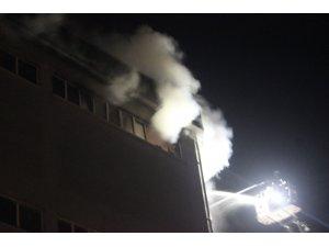 Kağıt imalathanesinde korkutan yangın