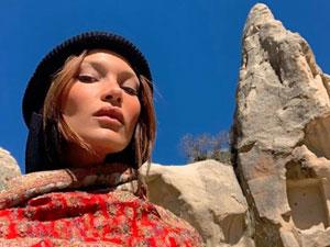 Ünlü model Kapadokya'da hayran kaldı