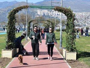 İzmir mevsimlik çiçeklerle rengarenk