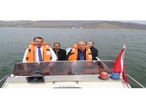 Elazığ'da su ürünleri av yasağı denetimi