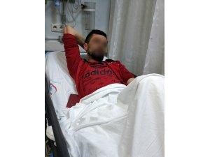 Tespihini koparan şahsın silahlı saldırısında yaralandı