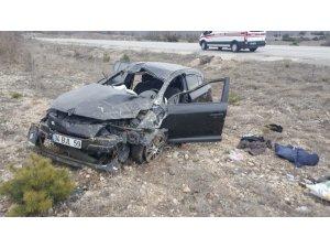 Çorum'da otomobil takla attı: 1 ölü, 2 yaralı