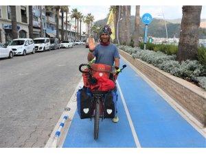 Bisikletle 124 günde 9 il, 97 ilçe gezip 4 bin 600 kilometre yol yaptı