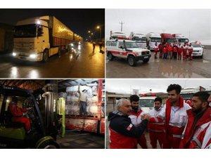 Türk Kızılayı'nın yardımları İran'ın Urmia şehrine ulaştı