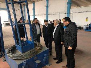 STSO Başkan Kuzu, çivi ve çelik hasır fabrikasını ziyaret etti