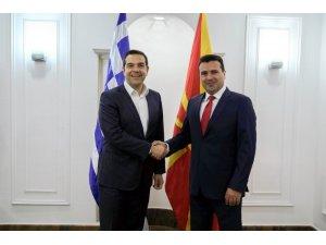 Yunanistan Başbakanı Çipras, Kuzey Makedonya'da