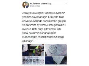 AK Parti Antalya'da 19 ilçede seçim sonuçlarına itiraz ediyor