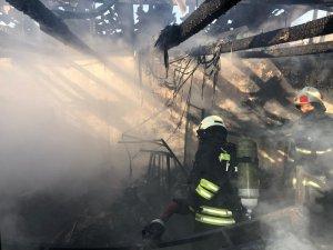 OSB'de inşaat şantiyesinde yangın