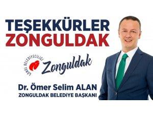 """Alan: """"Teşekkürler Zonguldak. Vakit Zonguldak için koşma vakti"""""""