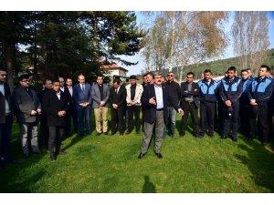 Başkan Can, belediye personeli ile vedalaştı
