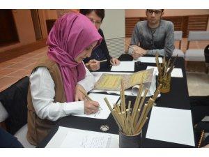 Yazma eserler müzesinde hat atölyesi