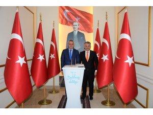 Manisa Valisi Ahmet Deniz, Balıkesir Valisi Yazıcı'yı ziyaret etti