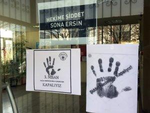 Aile sağlık merkezi grev yaptı, vatandaşlar kapıda kaldı