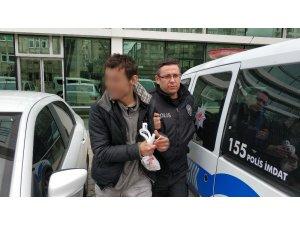 Caminin musluklarını çalan zanlı tutuklandı