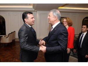Bakan Akar, Kuzey Makedonya Başbakanı Zaev ile görüştü