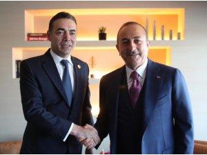 Bakan Çavuşoğlu, Kuzey Makedonyalı mevkidaşı Dimitrov'la görüştü