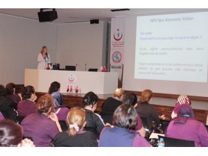 Fethi Sekin Şehir Hastanesinde HPV semineri