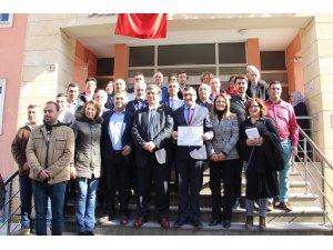 Çan Belediye Başkanı Bülent Öz mazbatasını aldı