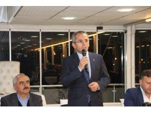 Belediye Başkanı Kazım Şahin'e veda yemeği