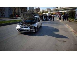 Kartal'da orta refüjden atlayan araç karşı şeride girdi: 1 yaralı