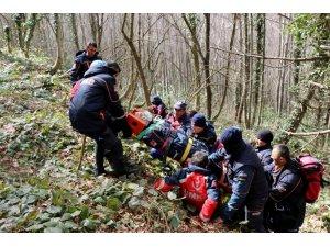 84 personelin katılımıyla 'Doğada Arama Kurtarma Tatbikatı' gerçekleştirildi