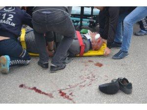 Bilecik'te otomobilin çarptığı yaya yaralandı