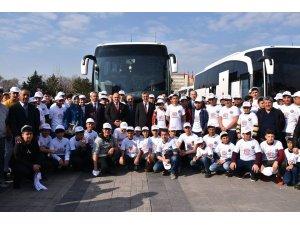 Öğrenciler ilk defa İstanbul'a gittiler