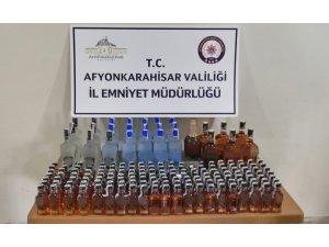 Yabancı plakalı araçta 175 şişe kaçak içki ele geçirildi