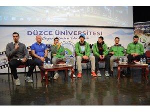 Düzce Üniversitesi Belediye Basketbol takımını ağırladı