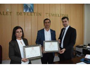 HDP'den Nusaybin Belediye Başkanı seçilen Nergiz, mazbatasını aldı
