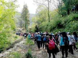 Vali Karaloğlu liderliğinde  Ulupınar-Olympos Likya yolu yürüyüşü