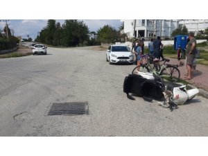 Elektrikli bisikletin çarptığı turist yaralandı