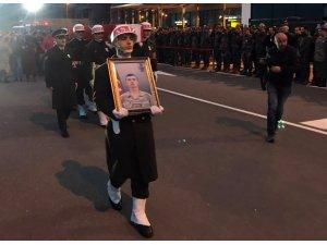 Şehit  Şahin'in cenazesi memleketine getirildi