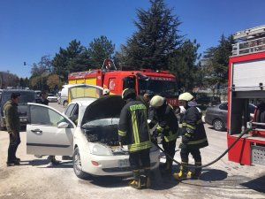 Isparta'da araç yangını