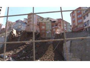 Kağıthane'deki bina böyle çöktü