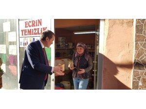 """Başkan Arısoy, """"Hem baharı fesleğen ile karşılıyoruz hem de vatandaşlara teşekkür ediyoruz"""""""