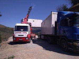 Konteyner evler Kurucaoluk'a yerleştirildi