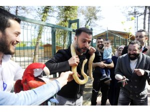 Alişan'ın yılanla imtihanı