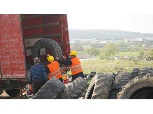20 bin adet ömrünü tamamlamış lastik geri dönüşüme gönderildi