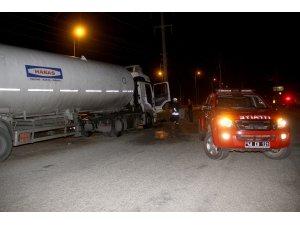 Akaryakıt tankerinde çıkan yangın korkuttu