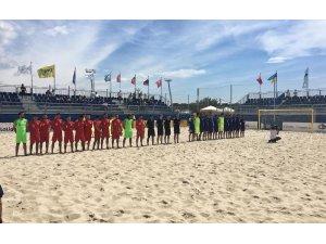 Plaj Futbolu Milli Takımı, Yunanistan karşısında mağlup oldu