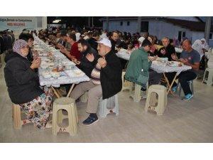 Çan'da Ahlatlıburun köy muhtarlığından iftar yemeği
