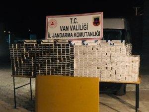 Van'da 9 bin 940 paket kaçak sigara ele geçirildi