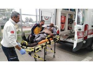 Engelli motosiklet devrildi: 4 Yaralı