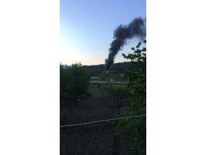 Karabük'te elektrik trafosu patladı