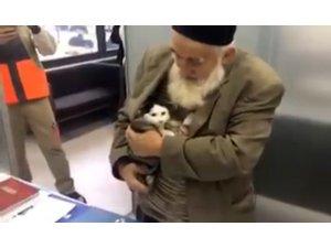 Yaşlı adamın sokak kedisine yardımı sosyal medyayı salladı
