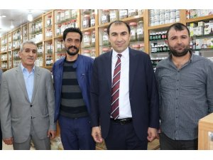 Başkan Berge'den esnafa Ramazan ziyareti