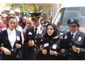 Şehit polis memuru Fatih Şevket Ersin için gözü yaşlı son görev