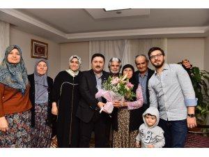 Başkan Avcı'dan, şehit ailesine ziyaret